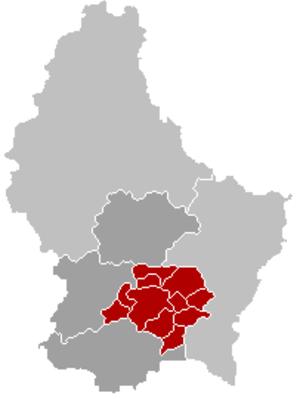 Luxembourg (canton) - Image: Kanton Luxemburg Locatie
