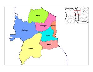 Kara Region - Prefectures of Kara