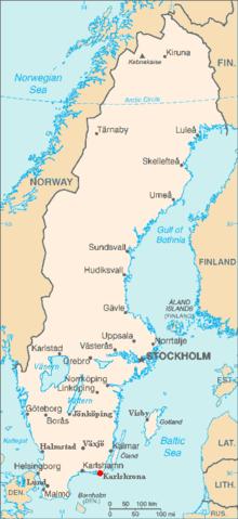 """السويد تحقق """"جريمة كراهية"""" ارتكبها 220px-Karlskrona_in_Sweden.png"""