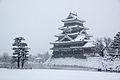 Kasteel van Matsumoto in de sneeuw, -7 februari 2014 a.jpg