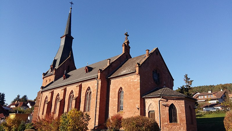 Katholische Kirche in Heubach, Bild aus Wikipedia