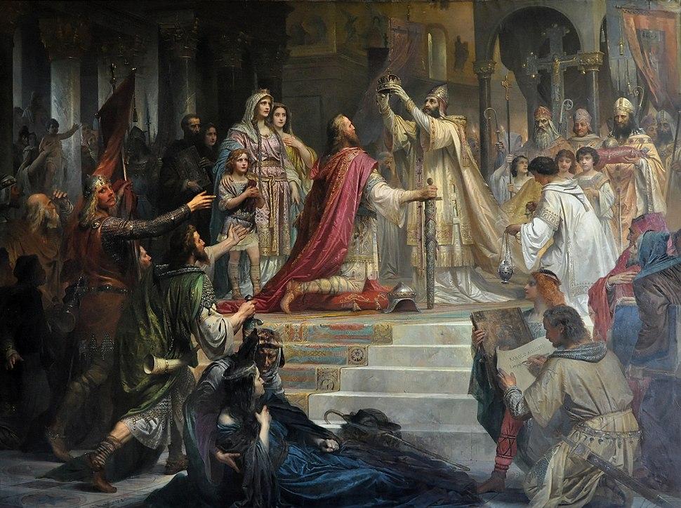 Kaulbach Die Kaiserkrönung Karls des Großen