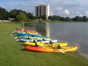 Winter Haven, Florida - Kayaks at Lake Silver