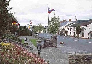 Keadue Village in Connacht, Ireland