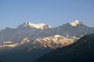 Kedarnath (mountain) - Image: Kedar from Tungnath vvnataraj