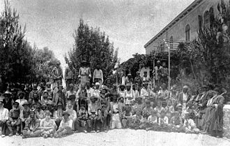 Old Yishuv - Jewish workers in Kerem Avraham neighborhood of Jerusalem in the mid-19th century