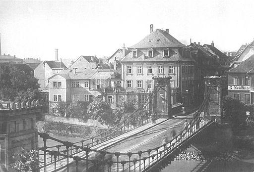 Kettenbruecke in Bamberg 1889