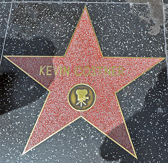 Kevin Costner - Costner's star on the Hollywood Walk of Fame