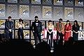 Kevin Feige, Scarlett Johansson, David Harbour, Florence Pugh, O. T. Fagbenle, Cate Shortland & Rachel Weisz (48471879032).jpg