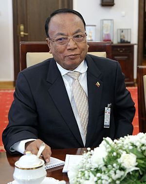 Speaker of the House of Nationalities - Image: Khin Aung Myint Seenate of Poland 2015