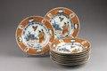 Kinesiska porslinstallrikar från 1770-talet - Hallwylska museet - 95890.tif