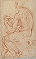 Kneeling Male Figure with Outstretched Arms (recto); Semi-Nude Seated Male Figure seen from Behind (verso) MET 1994.331 VERSO.jpg