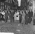 Koninklijke familie naar Tijl Uilenspiegel in Leiden, de Koninklijke familie, Bestanddeelnr 917-9258.jpg
