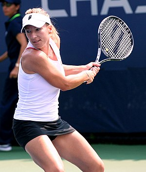 English: Kveta Peschke in the US Open (2011) M...