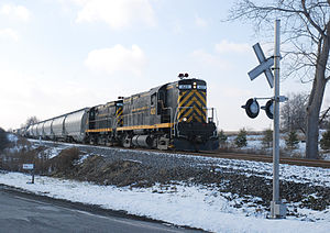 Livonia, Avon and Lakeville Railroad - Image: LAL 420 and 425 at East River Rd