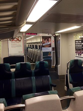 Long Island Rail Road - Interior of a typical LIRR train car