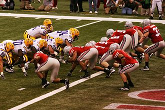 2008 BCS National Championship Game - The Tigers line up on offense against the Buckeyes.