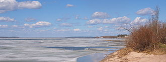 Methye Portage - Ice break-up on Lac La Loche May 13, 2013 (Ice covers the lake from about the middle of November to about the middle of May).
