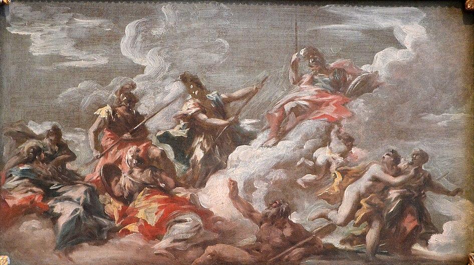 La Lutte entre l'Allemagne et la France pour la conquête du Rhin - Giovanni Antonio Pellegrini - Q18573883.jpg