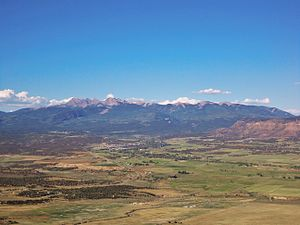 La Plata Mountains - From the Mancos Valley Overlook in Mesa Verde National Park