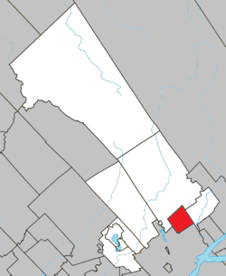 Location within La Jacques-Cartier RCM.