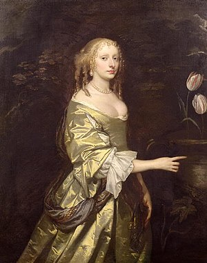 Weston Park - Lady Elizabeth Wilbraham, the possible architect of Weston, by Sir Peter Lely, one of the portraits in the collection
