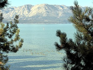 Fall 2007 view of south Lake Tahoe taken from ...
