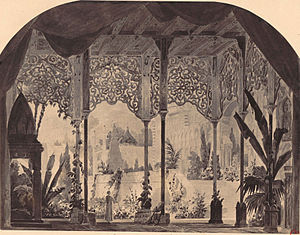 Lalla-Roukh - Set design for Act 2 of Lalla-Roukh