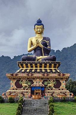 Large Gautama Buddha statue in Buddha Park of Ravangla, Sikkim