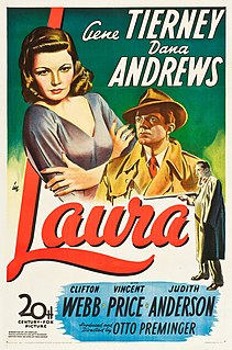 <i>Laura</i> (1944 film) 1944 American film noir directed by Otto Preminger