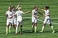 Lauren Holiday gets feted after goal -4 (19184954794) (2).jpg
