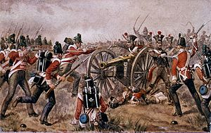 43rd (Monmouthshire) Regiment of Foot - The 43rd Regiment of Foot at the Battle of Sabugal in April 1811 by Richard Simkin