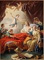 Le Dauphin mourant entouré de sa famille, le duc de Bourgogne lui présente le couronne de l'immortalité, le 20 décembre 1765.jpg