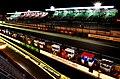Le Mans pit lane at night.jpg
