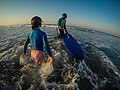 Learning to surf with Ocean Adventures, Durban beach front. KwaZulu Natal, South Africa (20504343972).jpg