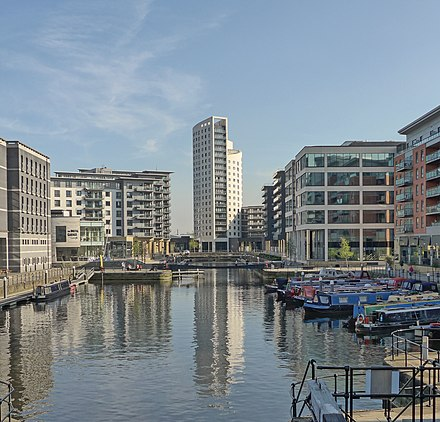Leeds Dock, looking southeast Leeds Dock (17061248608).jpg
