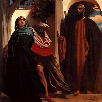 Jezebel - Jezabel and Ahab (c. 1863) by Frederic Leighton