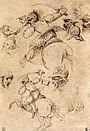 Leonardo da vinci, Study of battles on horseback.jpg