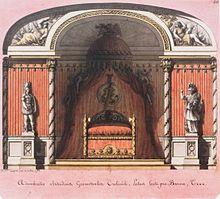 adumbratio altitudinae geometralia lvation de lalcve antique pour le baron t dessin de jean jacques lequeu sur vlin 1788 - Chambre Alcove Definition