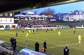 Football in Sussex - Lewes playing Eastbourne Borough at The Dripping Pan in 2009