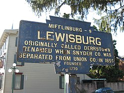 Official logo of Lewisburg, Pennsylvania
