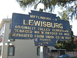 Lewisburg, Pennsylvania - Image: Lewisburg, PA Keystone Marker
