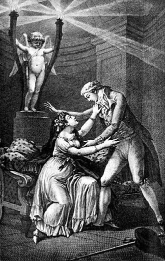 Les Liaisons dangereuses - Illustration from 1796 edition
