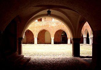 Courtyard - Courtyard in a cloister
