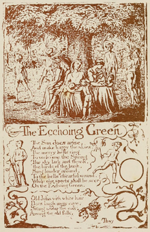 Life of William Blake (1880), Volume 1, Songs of Innocence - Ecchoing Green.png