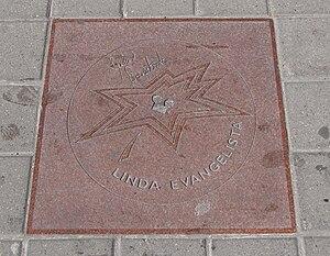 Linda Evangelista - Evangelista's star on Canada's Walk of Fame