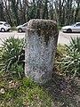 Listed city limit stone, Pirosrózsa street, 2018 Sashalom.jpg