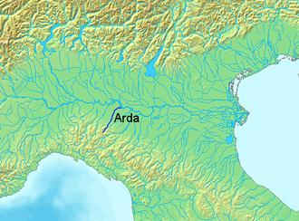 Arda (Italy) - Location of the Arda in Italy