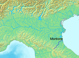 Montone (river) - Image: Location Montone River
