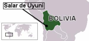 Salar de Uyuni - Location of Salar de Uyuni.